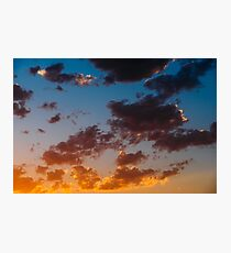 Beautiful Blue And Orange Tranquil Summer Sunset Background Photographic Print