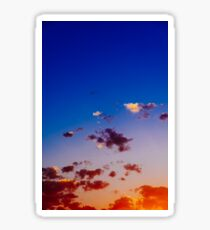 Beautiful Blue And Orange Tranquil Summer Sunset Background Sticker