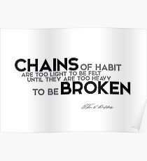 Ketten der Gewohnheit - Warren Buffett Poster