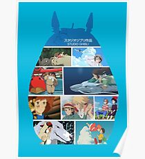 Totoro-Hayao Miyazaki Films Poster