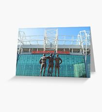 Manchester United, East Stand, Old Trafford Manchester Greeting Card