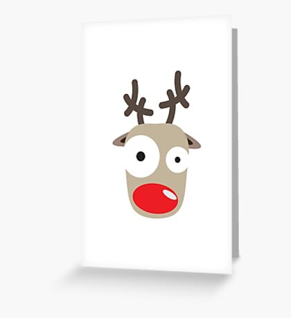 Rudolph Surprise Greeting Card