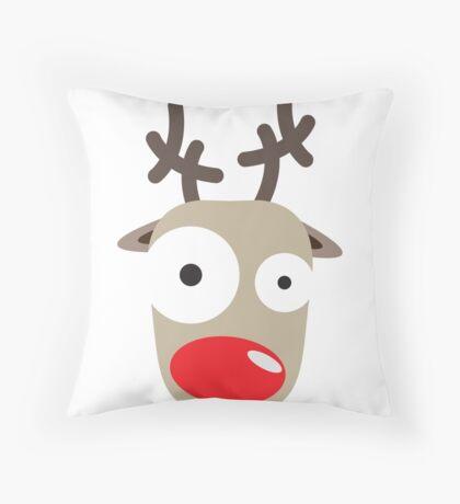 Rudolph Surprise Throw Pillow