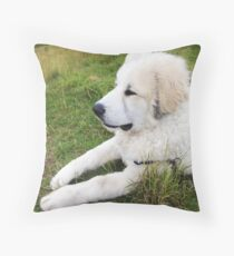 Just Chillin' - Great Pyrenees Puppy Throw Pillow