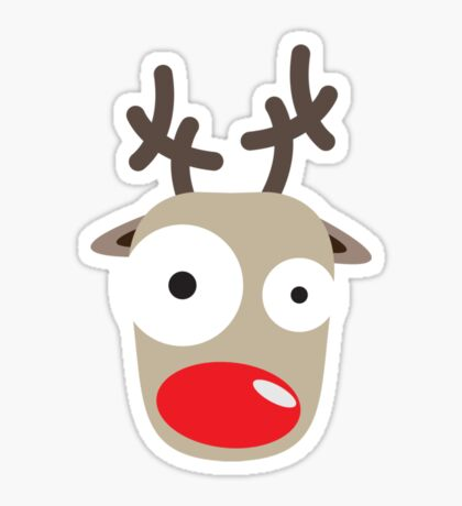 Rudolph Surprise Sticker