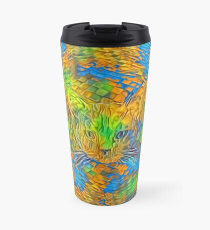 Cat. Every day is Earth Day. Travel Mug