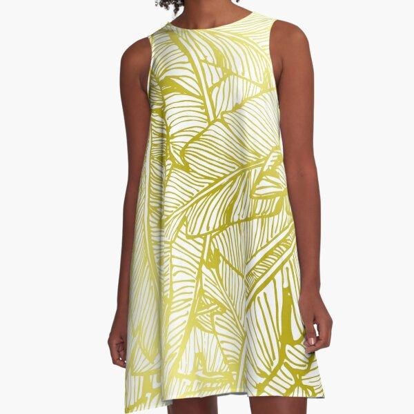Gold Jungle A-Line Dress
