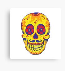 Sugar Skull Yellow Canvas Print