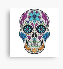 Sugar Skull Blue Canvas Print