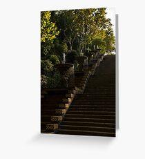 Joyful Blue and Yellow Cascade - Montjuic Park, Barcelona, Spain Greeting Card