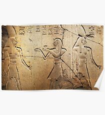 Ancient Egyptian Wall carving Poster