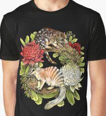 Australian Christmas Wreath Graphic T-Shirt