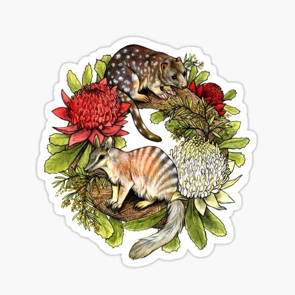 Australian Christmas Wreath Sticker