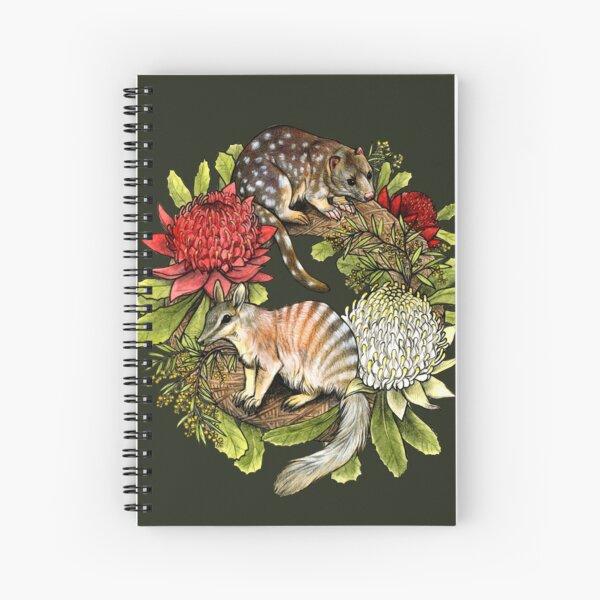 Australian Christmas Wreath Spiral Notebook