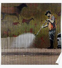 Knitted Banksy Cave Painting Poster