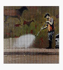 Knitted Banksy Cave Painting Photographic Print