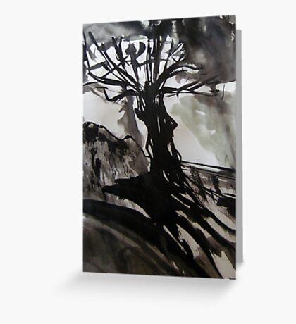 survivor....black tree Greeting Card