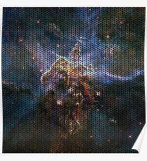 Knitted Carina Nebula Poster