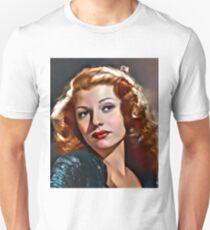 Rita Hayworth, Vintage Actress. Digital Art by Mary Bassett Unisex T-Shirt