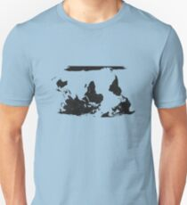 Upside down world map - Think Different Unisex T-Shirt