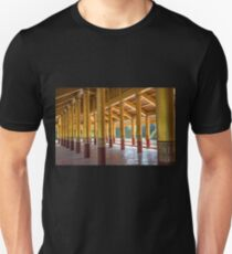 Myanmar. Mandalay. Royal Palace. Colonnade. Unisex T-Shirt