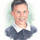 5th-grade brother watercolor by Mike Theuer