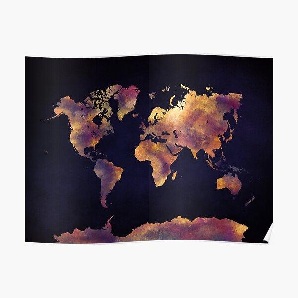 world map 64 #map #worldmap Poster