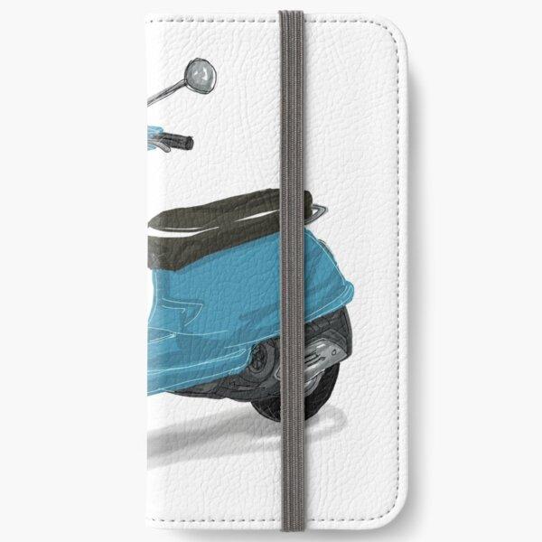 Blaue Vespa iPhone Flip-Case