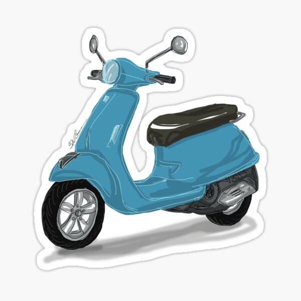 Blaue Vespa Sticker