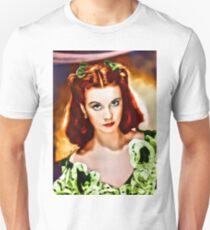 Vivien Leigh, Vintage Actress. Digital Art by Mary Bassett Unisex T-Shirt