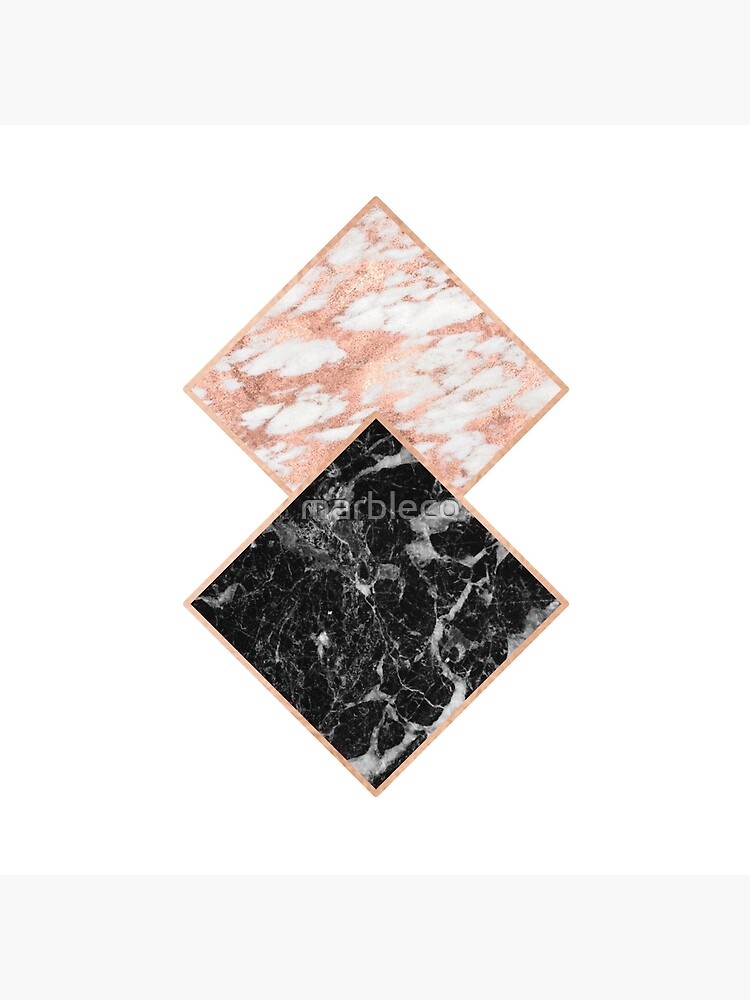 Diamant Roségold Marmor - Kupfer vergoldet von marbleco