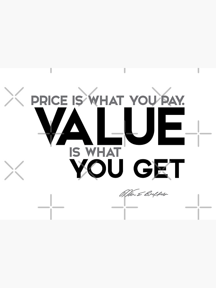 value you get - warren buffett by razvandrc