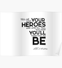 you become your heroes (v2) - warren buffett Poster