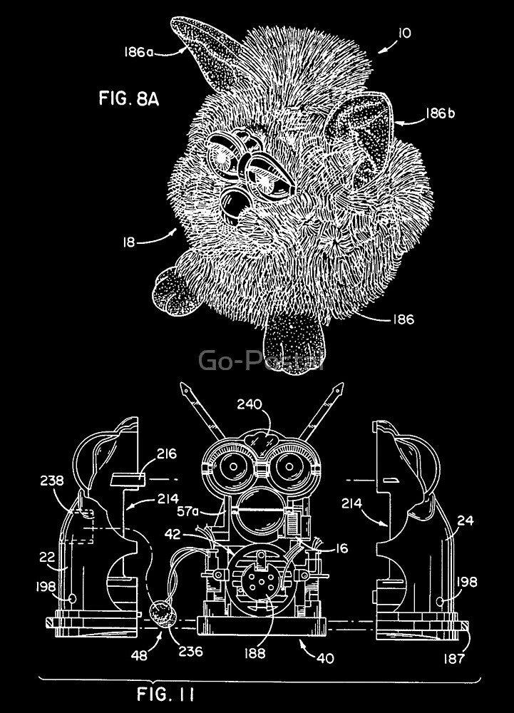 Furby Patent Assembly Print by Go-Postal