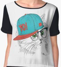 Yo Cat! Chiffon Top