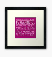 Be Meaningful Framed Print