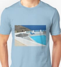 Swimming pool near the sea Unisex T-Shirt