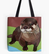 Red Otter Burnt Sienna Colour Challenge Tote Bag