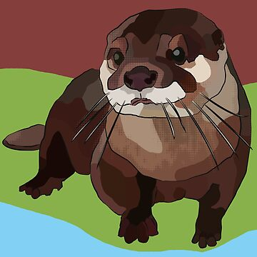 Red Otter Burnt Sienna Colour Challenge by BeeFoxTree