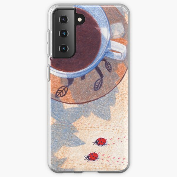 picnic with coffee and cake Samsung Galaxy Soft Case