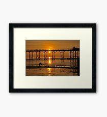 Barking Sunset At Bognor Framed Print