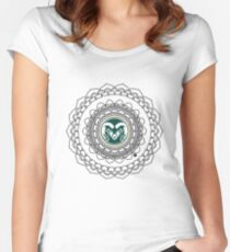 Colorado State Mandala Women's Fitted Scoop T-Shirt