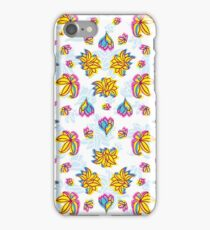 Vivid Summer with Colorful Tropical Flowers Pattern iPhone Case/Skin