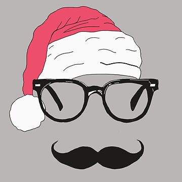 father christmas with sunglasses and moustache by jackpoint23