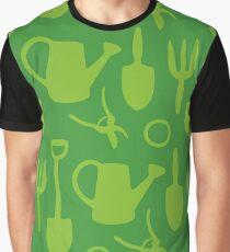 Green Garden Tools Graphic T-Shirt