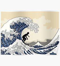 The Great Surfer of Kanagawa Poster