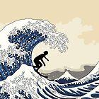 The Great Surfer of Kanagawa by XOOXOO