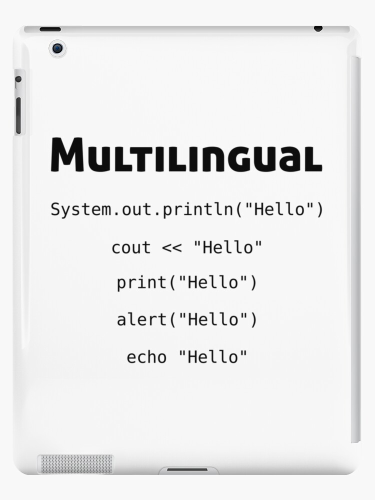 'Multilingual Coder - Gifts for Computer Science' iPad Case/Skin by  EncodedShirts
