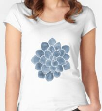 Blue Succulent Women's Fitted Scoop T-Shirt