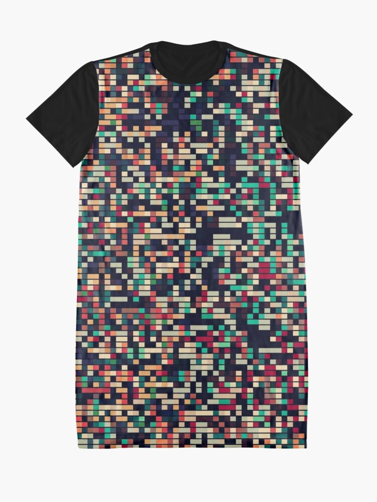 Alternate view of Pixel Mania III Graphic T-Shirt Dress